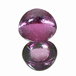 Rhodolith Cabochon aus Indien - Rhodolite cabochon from India