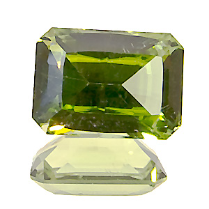 Peridot from Pakistan. 1.8 Carat. very well cut, very lively gem