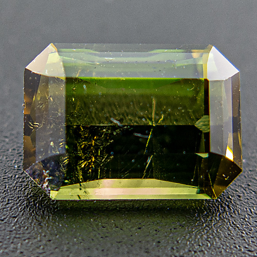 Tourmaline (Verdelite) from Brazil. 2.99 Carat. Strongly pleochroic, cleverly cut tourmaline. Very lively.