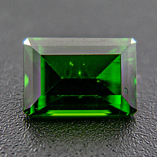 Chrome Diopside from Russia. 1.13 Carat. Emerald Cut