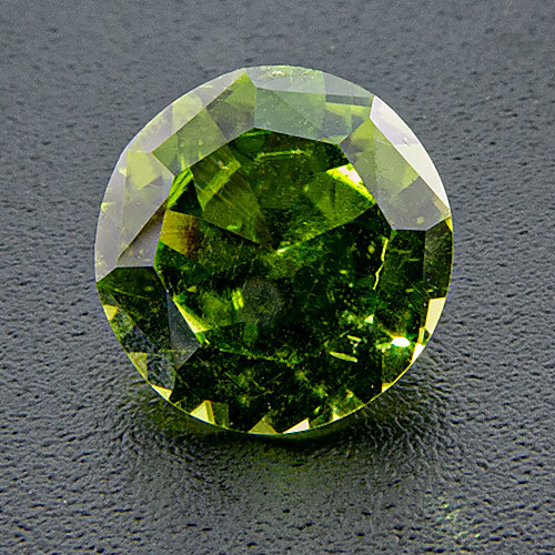 Peridot from Australia. 1.33 Carat. Found by the collector in the Cheviot Hills, Queensland, Australia in 1980.