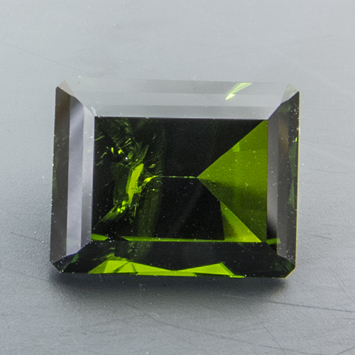 Chrome Diopside from Russia. 1.63 Carat. Octagon, distinct inclusions