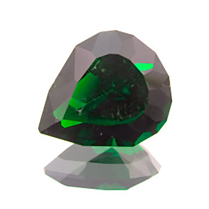 Chrome Diopside from Russia. 1.24 Carat. Pear, eyeclean