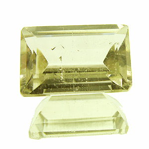 Herderite from Brazil. 1.5 Carat. Baguette, very small inclusions