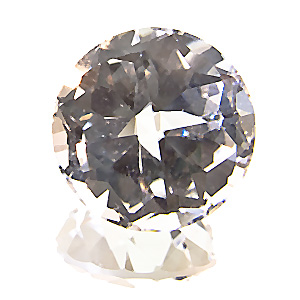 Topaz from Namibia. 4.98 Carat. so-called silvertopaz from the little spitzkoppe mountain, four facets instead of one table facet