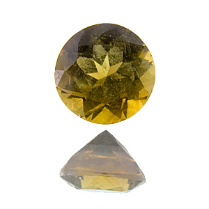 Brown Tourmaline (Dravite) from Ethiopia. 0.33 Carat. Round, distinct inclusions