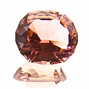 Tourmaline (Rubellite) from Nigeria. 5.88 Carat. uncommonly cut, very vivid peach-coloured tourmaline from the jos plateau