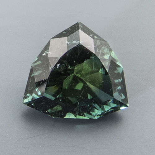 Tourmaline (Verdelite from Namibia. 2.01 Carat. Trillion, distinct inclusions