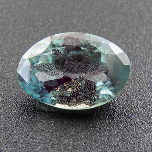 Alexandrite from India. 0.46 Carat. Oval, distinct inclusions