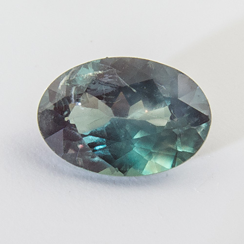 Alexandrite from India. 0.48 Carat. Oval, distinct inclusions