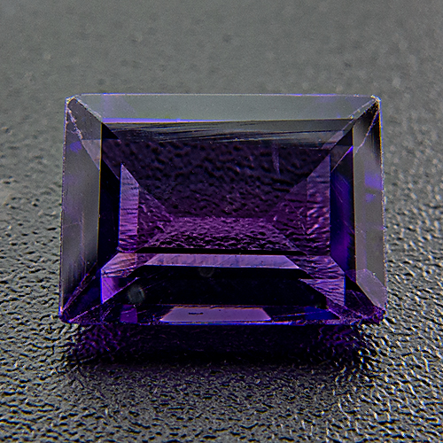 Amethyst from Zambia. 1 Piece. Baguette, very very small inclusions