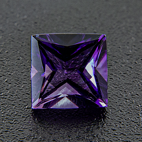 Amethyst from Zambia. 1 Piece. Square Princess, very very small inclusions