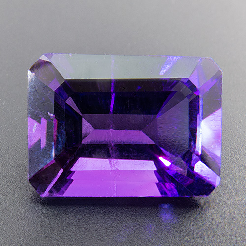 Amethyst from Zambia. 7.02 Carat. Emerald Cut, small inclusions