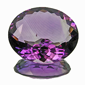 Amethyst from Zambia. 20.62 Carat. shallow pavilion, 