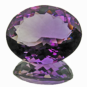 Amethyst from Zambia. 24.1 Carat. Oval, very very small inclusions