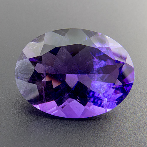 Amethyst from Zambia. 7.62 Carat. Oval, small inclusions