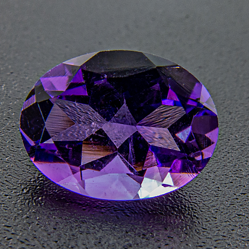 Amethyst from Brazil. 1 Piece. Oval, very small inclusions