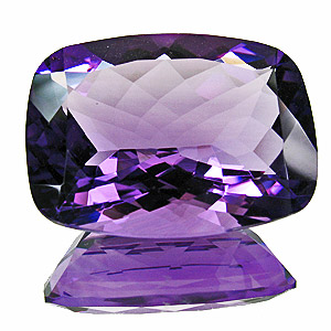 Amethyst from Zambia. 26.76 Carat. Cushion, eyeclean