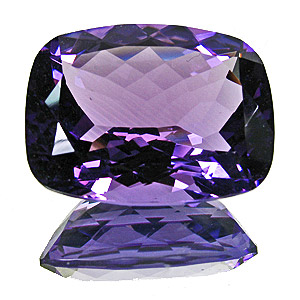 Amethyst from Zambia. 28.21 Carat. Cushion, eyeclean