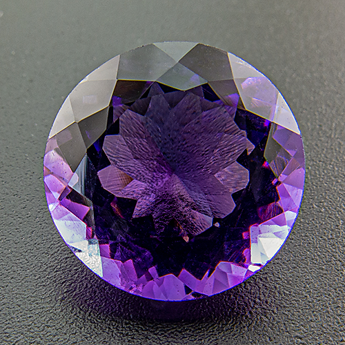 Amethyst from Zambia. 1 Piece. Round, very small inclusions