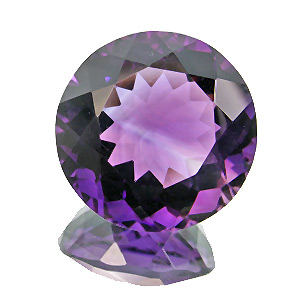 Amethyst from Zambia. 16.09 Carat. Round, very very small inclusions