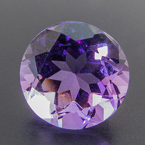 Amethyst from Brazil. 1 Piece. Round, very very small inclusions