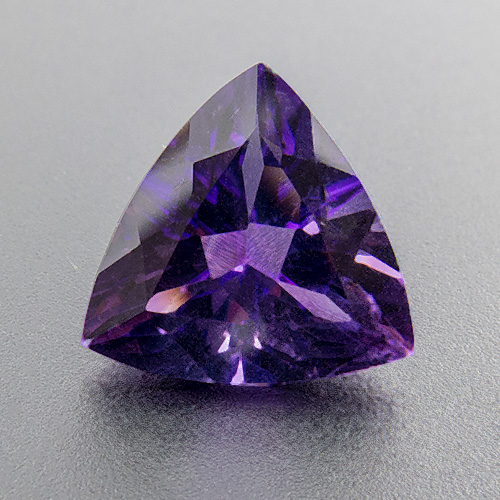 Amethyst from Zambia. 2.01 Carat. Trillion, very small inclusions