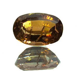 Andalusite. 1.29 Carat. Oval, distinct inclusions