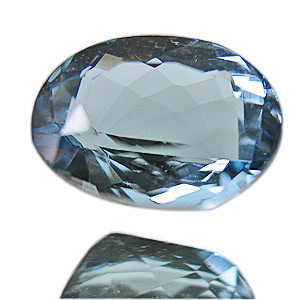 Aquamarine from Brazil. 0.72 Carat. Oval, eyeclean