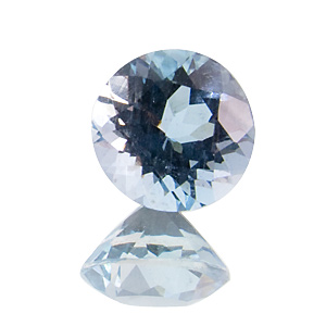 Aquamarine. 1 Piece. Round, very very small inclusions