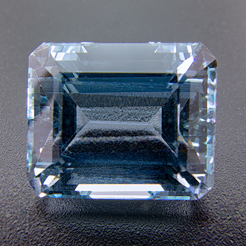 Aquamarine from Africa. 9.81 Carat. Emerald Cut, very very small inclusions