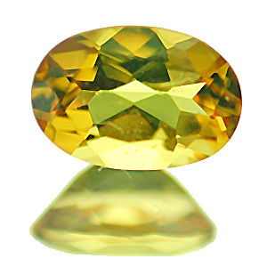Golden Beryl from India. 1 Piece. Oval, very very small inclusions