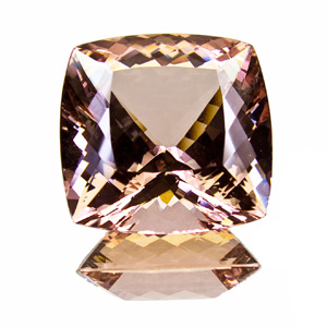 Morganite (Beryl) from Brazil. 50.82 Carat. Cushion, very very small inclusions
