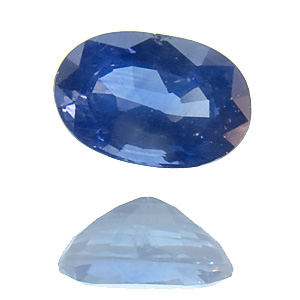 Sapphire from Thailand. 1 Piece. Oval, distinct inclusions