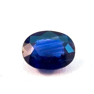 Sapphire from Thailand. 0.31 Carat. Oval, small inclusions