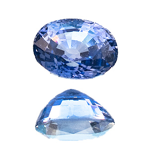 Sapphire from Sri Lanka. 1.46 Carat. Oval, very small inclusions