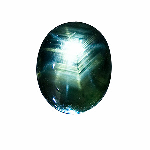12-Rayed Star Sapphire from Thailand. 2.9 Carat. Cabochon Oval, opaque