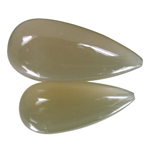 Moonstone from India. 30 Carat. Teardrop Round, translucent