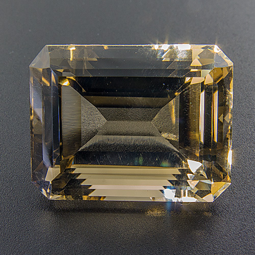 Citrine from Brazil. 17.6 Carat. Emerald Cut, eyeclean