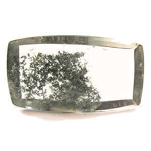 """Lodolite"" from Brazil. 30.55 Carat. Cabochon Cushion, very distinct inclusions"