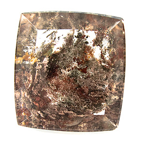 """Lodolite"" from Brazil. 72.29 Carat. Cabochon Cushion, very distinct inclusions"