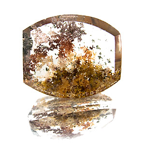Lodolite from Brazil. 41.27 Carat. Cabochon Barrel, very distinct inclusions