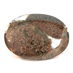 """Lodolite"" from Brazil. 60.43 Carat. Cabochon Oval, very distinct inclusions"