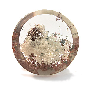 """Lodolite"" from Brazil. 66.84 Carat. Cabochon Round, very distinct inclusions"