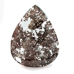 """Lodolite"" from Brazil. 155.75 Carat. Cabochon Pear, very distinct inclusions"