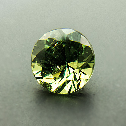Demantoid Garnet from Namibia. 0.38 Carat. Brilliant, small inclusions