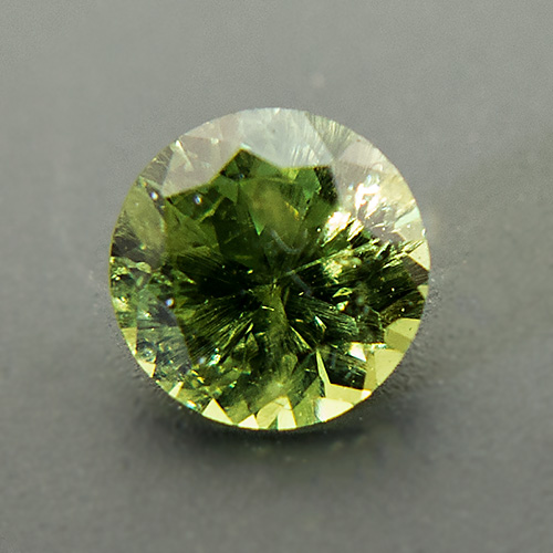 Demantoid Garnet from Namibia. 0.45 Carat. Brilliant, small inclusions