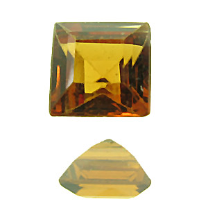 Hessonite Garnet. 1 Piece. Square, very very small inclusions