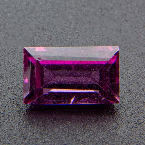 Rhodolite Garnet from India. 1 Piece. Baguette, eyeclean