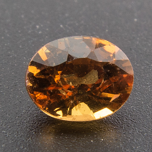Malaya Garnet (Umbalite) from Tanzania. 0.3 Carat. Oval, very very small inclusions